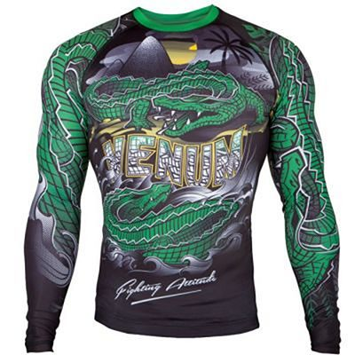 Venum Crocodile Rashguard-Long Sleeves Verde-Preto