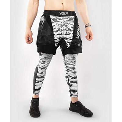 Venum Defender Fight Shorts White-Camo