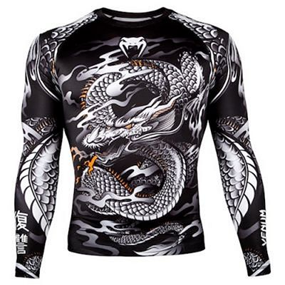 Venum Dragons Flight Rashguard-Long Sleeves Preto-Branco