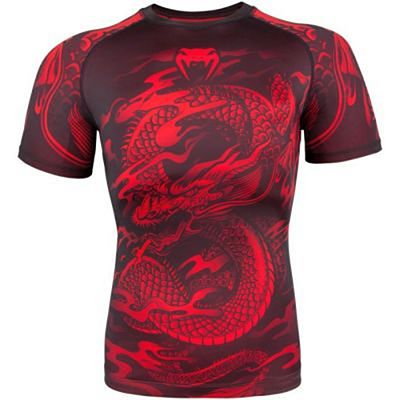 Venum Dragons Flight Rashguard Short Sleeves Preto-Vermelho