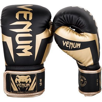 Venum Elite Boxing Gloves Negro-Oro