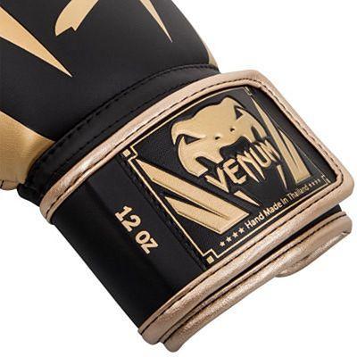 Venum Elite Boxing Gloves Black-Gold
