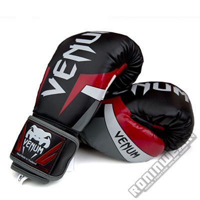 Venum Elite Boxing Gloves Black-Red
