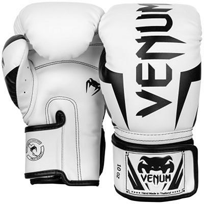 Venum Elite Boxing Gloves White-Black