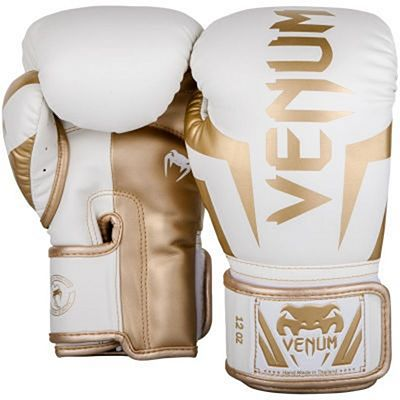 Venum Elite Boxing Gloves Blanco-Oro