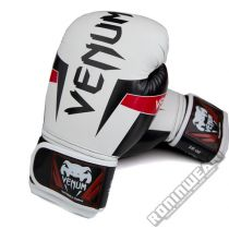 Venum Elite Boxing Gloves White-Red