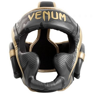 Venum Elite Boxing Helmet Grey-Gold