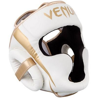 Venum Elite Headgear White-Gold