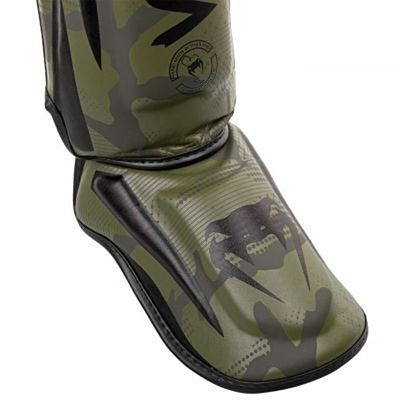 Venum Elite Shin Guards Verde-Camo