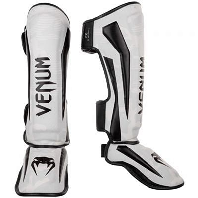 Venum Elite Shin Guards White-Camo
