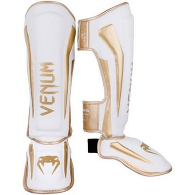 Venum Elite Standup Shinguards White-Gold