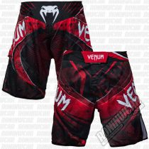 Venum Galactic Fight Shorts Negro-Rojo
