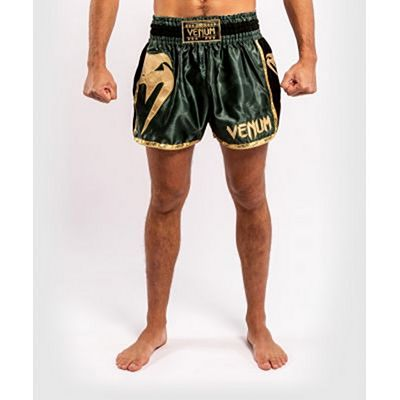 Venum Giant Camo Muay Thai Shorts Vert-Or
