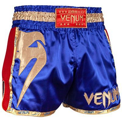 Venum Giant Muay Thai Shorts Blå-Gold