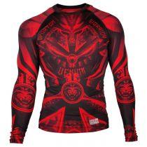 Venum Gladiator 3.0 Rashguard-Long Sleeves Rojo-Negro