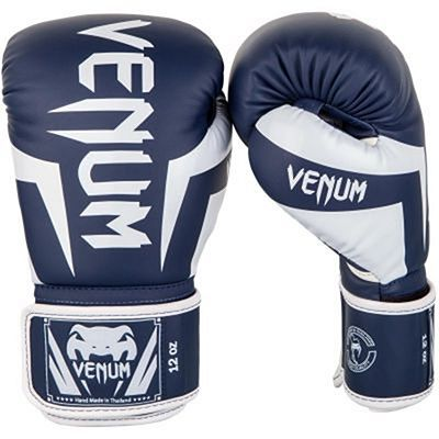 Venum Guantes Boxeo Elite White-Navy Blue