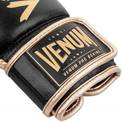 Venum Hammer Pro Boxing Gloves Velcro Preto-Dourado