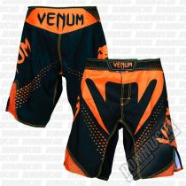 Venum Hurricane Fight Shorts Negro-Naranja