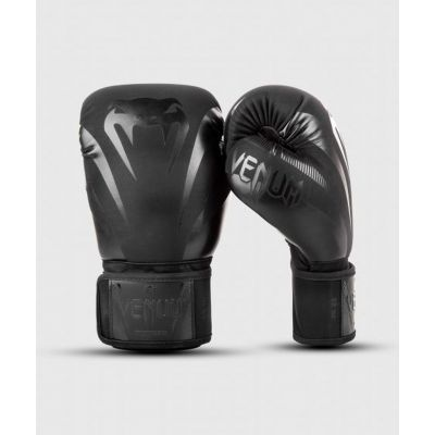 Venum Impact Boxing Gloves Black-Black