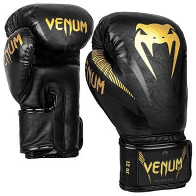 Venum Impact Boxing Gloves Black-Gold