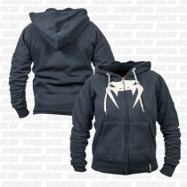 Venum Infinity Hoody With Zip Preto-Branco
