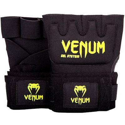 Venum Gel Kontact Glove Wraps Negro-Amarillo