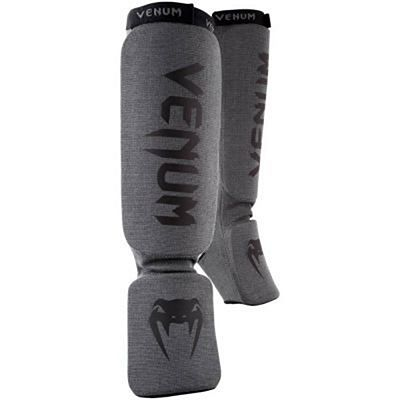 Venum Kontact Shin Guards Grey