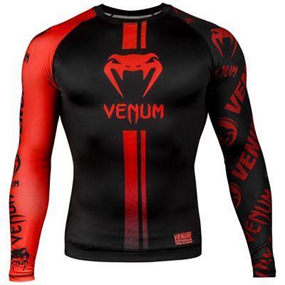 Venum Logos Rashguard LS Black-Red