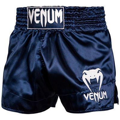 Venum Muay Thai Shorts Classic Navy Blue-White