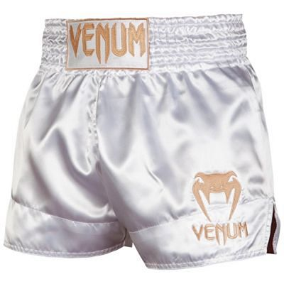 Venum Muay Thai Shorts Classic Blanc-Or