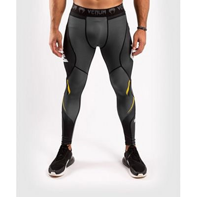 Venum ONE FC Impact Compresssion Tights Grey-Yellow