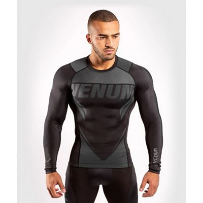 Venum ONE FC Impact Rashguard LS Black-Black