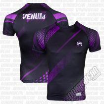 Venum Rashguard S/S Rapid Nero-Viola