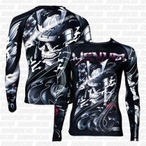 Venum Samurai Skull Rashguard LS Negro-Gris