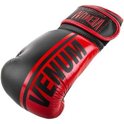 Venum Shield Pro Boxing Gloves Velcro Negro-Rojo
