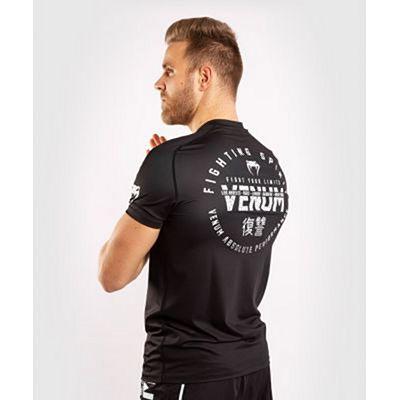 Venum Signature Dry Tech T-shirt Svart-Vit