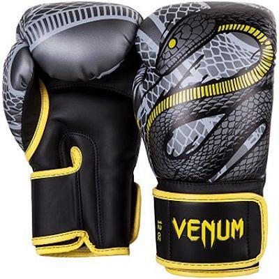 Venum Guantes Boxeo Snaker Negro-Amarillo