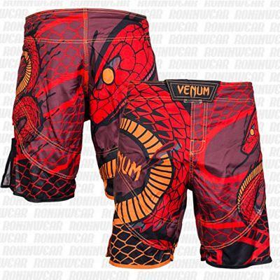 Venum Snaker Fightshorts Red-Orange