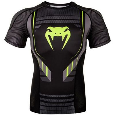 Venum Technical 2.0 Rashguard Short Sleeves Preto-Amarelo