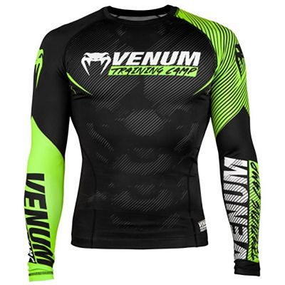 Venum Training Camp 2.0 Rashguard Preto-Amarelo