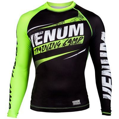 Venum Training Camp Compression T-shirt Preto-Verde