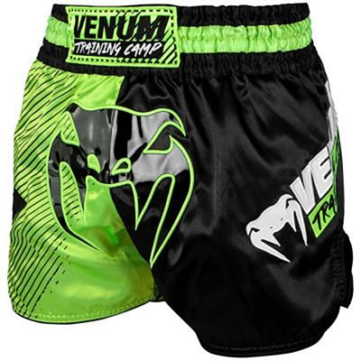 Venum Training Camp Muay Thai Shorts Nero-Verde