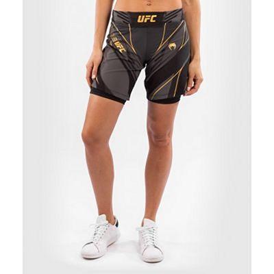 Venum UFC Authentic Fight Night Womens Shorts Long Fit Black-Gold