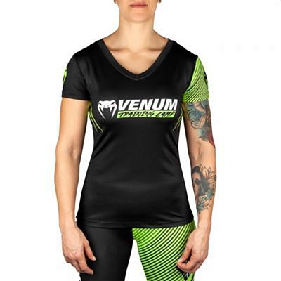 Venum Training Camp 2.0 Women T-shirt Negro-Amarillo