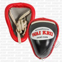 Wai Kru Groin Cup Protector Nero-Rosso