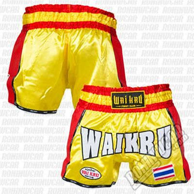 Wai Kru KV-05 Retro Kevlar Shorts Yellow-Red