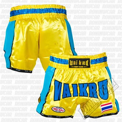 Wai Kru KV-06 Retro Kevlar Shorts Yellow-Blue