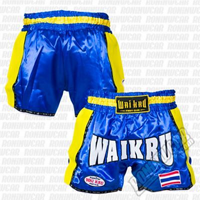 Wai Kru KV-08 Retro Kevlar Shorts Blue-Yellow