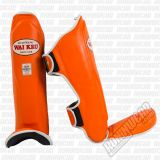 Wai Kru WKPRTH Leather Shinguards Laranja
