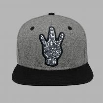 Wicked One Snapback Handsign Cinza-Preto